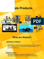 Waste Products & Waste Product Management