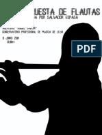 PROGRAMA DEL CONCIERTO DE LA GRAN ORQUESTA DE FLAUTAS EN LEÓN - JUNIO 2014