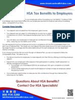 HSA Tax Benefits to Employers