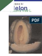Descriptors for Melon Cucumis Melo L. 906