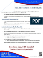 HSA Tax Benefits to Individuals