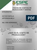 Estados de Costos de Producción y Ventas