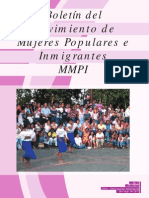 Boletin No 2. Mov. Mujeres Populares e Inmigrantes