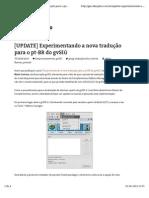 Experimentando a Nova Tradução Pt-br Para o GvSIG 2.1