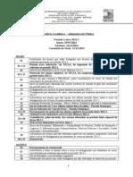 Calendário Universitário 2013.2 - Administração Pública