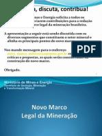 SGM Apres Novo Marco Regulatorio Da Mineracao
