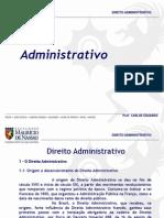 Aula de Direito Administrativo i