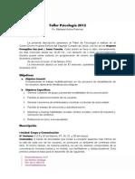 Taller Psicología 2012 Hogares Protegidos