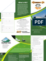 Golf for a Cure MS 2014 Brochure