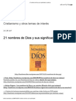 21 Nombres de Dios y Sus Significados _ Lumbrera