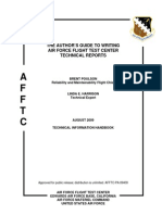 Author's Guide to Writing AFFTC Technical Reports