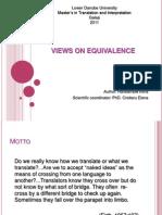 Views on Equivalence