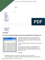 Crear una calculadora simple en Microsoft Visual Studio 2010 (El Código) Parte I _ Friki Bloggeo.pdf