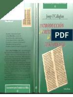 o'Callaghan - Introduccion a La Critica Textual Del Nuevo Testamento