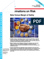 Ruminations on Risk - Beta Versus Margin of Safety