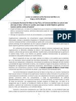 Boletin de prensa del Día Nacional del Maíz 2013