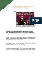30-05-2014 Puebla Noticias - El DIF Nacional y el Gobierno de Puebla firmarán convenio para prevenir la violencia en los hogares y las escuelas.