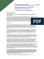 Moral Code of Conduct - IIBI_ISRA - Draft _10 09 2012