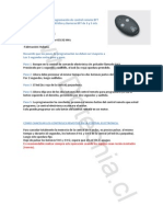 Guía Paso a Paso Para Programación de Control Remoto BFT Con Marca