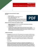 Resume ()