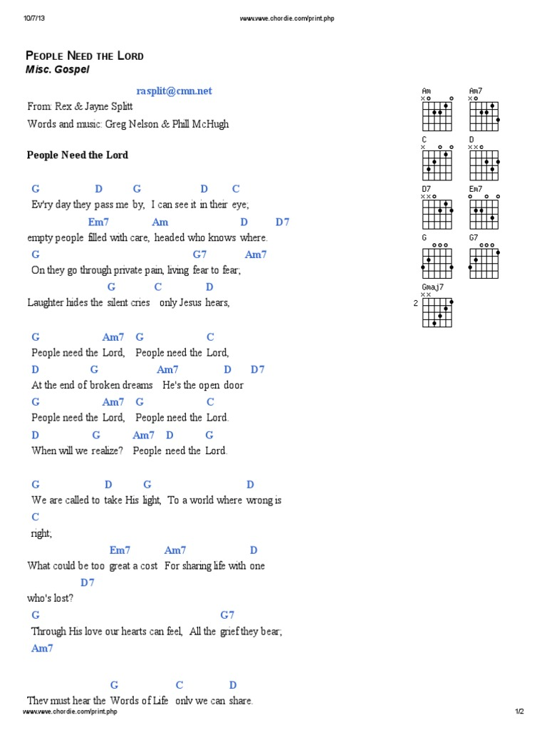 People need the lord lyrics and chords in g hexwebz Gallery
