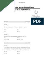 Engineering Mathematics Questions