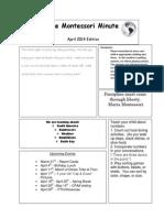 artifact for 2 2 d - april newsletter 2014 copy