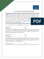 Arizona Republican Primary Survey Topline Results -- June 5, 2014