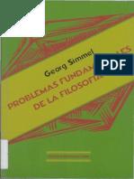Simmel Georg Problemas Fundamentales de La Filosofia OCR