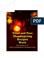 Tried and True Thanksgiving Recipes