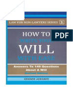 How to Write Your Will With Ease