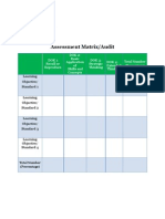 blank assessment matrix dok only