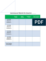 blank assessment matrix 2