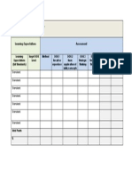 assessment blue print template