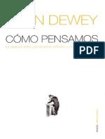 Dewey r e Pensamiento Reflexivo y Educacion