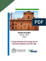 Balance Concejo y Asamblea - Marzo- Abril de 2014