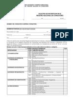 Solicitud de Inscripcion en El Registro de Consultores