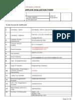 Supplier Evaluation