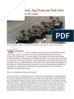 Tiananmen Square, Egg Wash and Tank Man Reflections After 25 Years