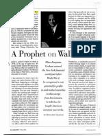 A Prophet on Wall Street