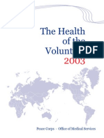 The Health of the Volunteer 2003 Peace Corps Annual Report of Volunteer Health  HOV_2003