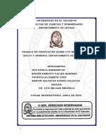 Trabajo de graduación sobre los municipios de Izalco y Armenia, departamento de Sonsonate