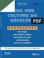 Vers Une Culture Du Resultat