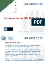 IGC Presentacin ISO 9001-2015