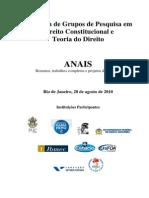 Anais do II Fórum de Grupos de Pesquisa em Direito Constitucional e Teoria do Direito