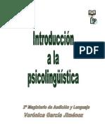 Introduccion a La Psicolinguistica