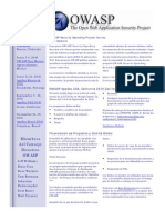 03 15 10 OWASP Newsletter-Spanish