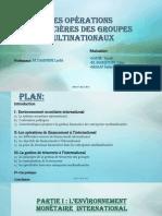L_organisation Financière Des Groupes Multinationaux