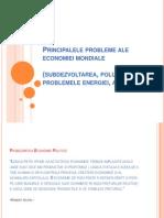 Principalele Probleme Ale Economiei Mondiale