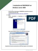 Manual de instalaci+¦n de freeproxy en Windows server 2003